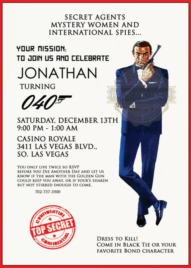 Secret Agent Invitations