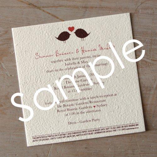 Seeded Paper Wedding Invitations Australia