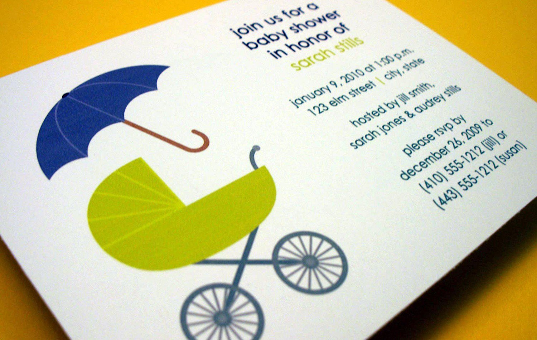 Self Print Baby Shower Invitations