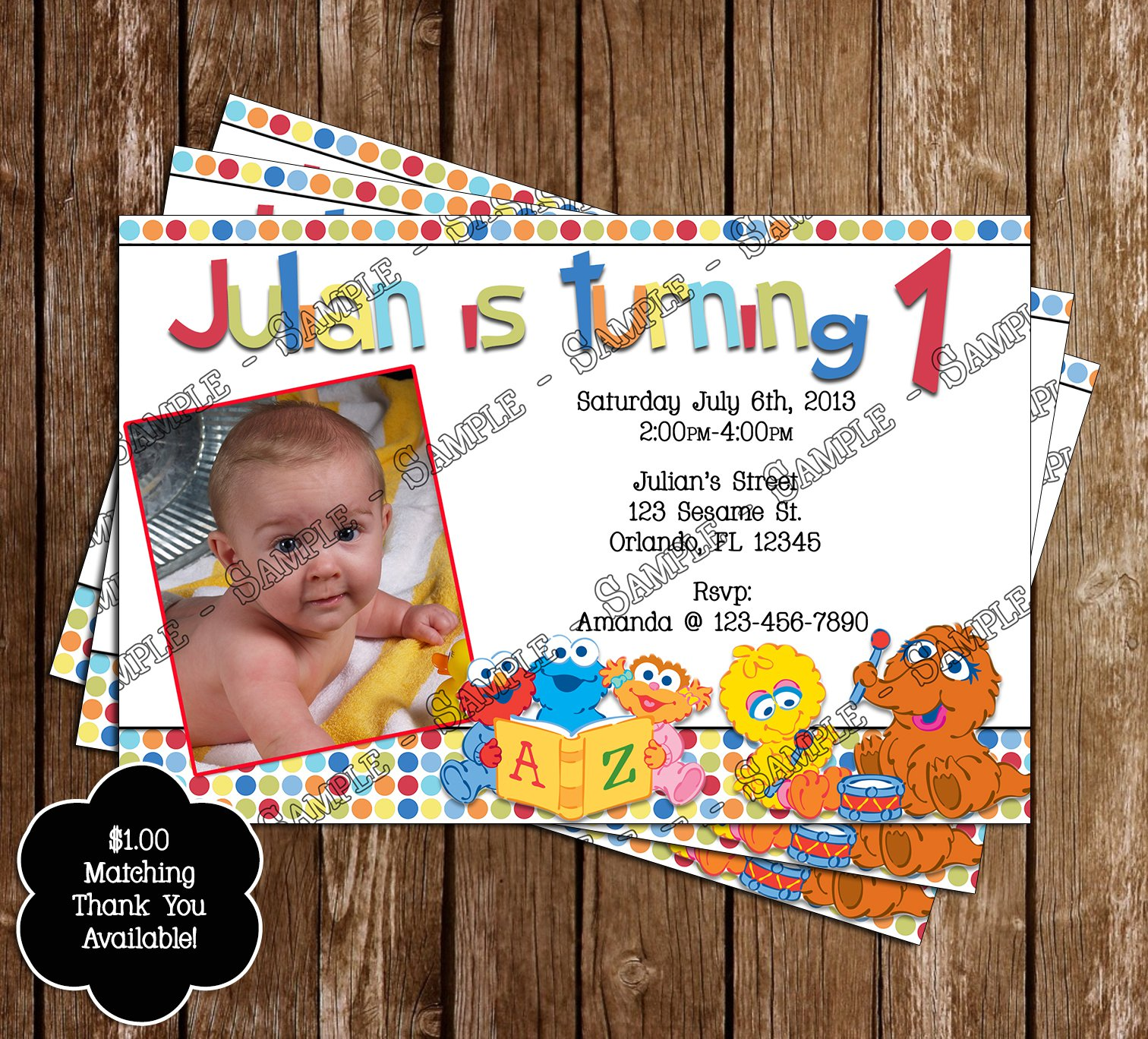 Sesame Street Birthday Invitation Templates