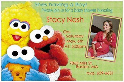 Sesame Street Baby Invitations