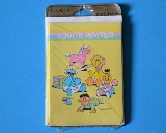 Sesame Street Baby Shower Invitations