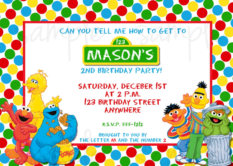 Street Birthday Invitation Templates