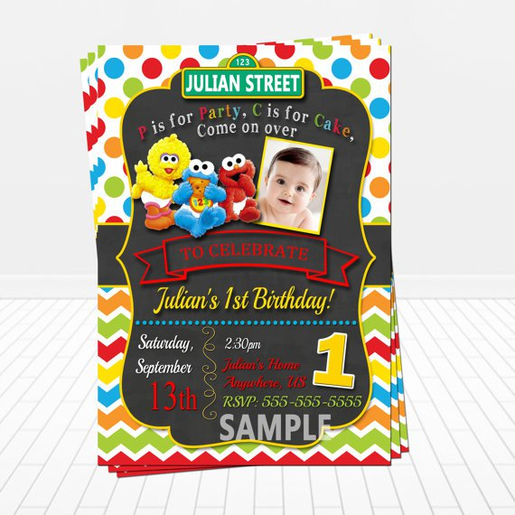Sesame Street Invitations