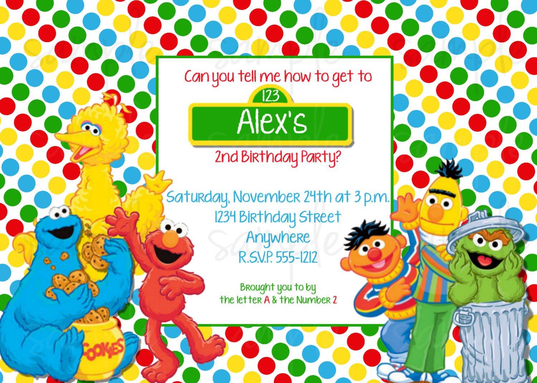 Sesame Street Invitations – Sesame Street 1st Birthday Invitations