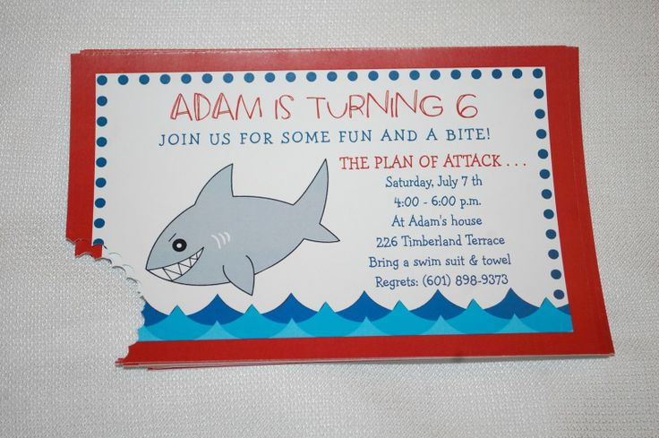 Shark Baby Shower Invitations