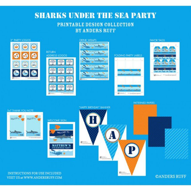 Shark Invitation Pattern