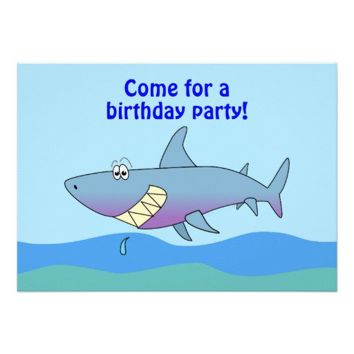 Shark Invitation Template
