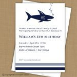 Shark Party Invitation Template