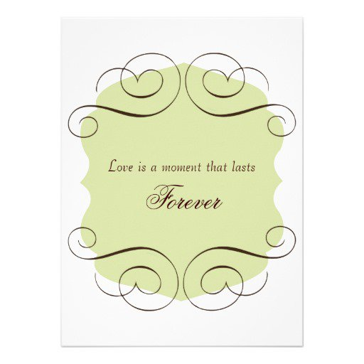 Short love quotes wedding invitations for Love quotes for card