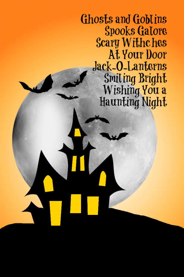 Short Halloween Poems For Invitations