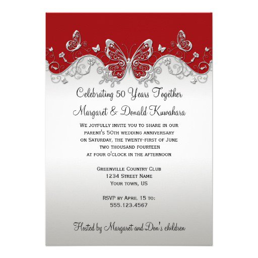 Silver Anniversary Invitations For Party