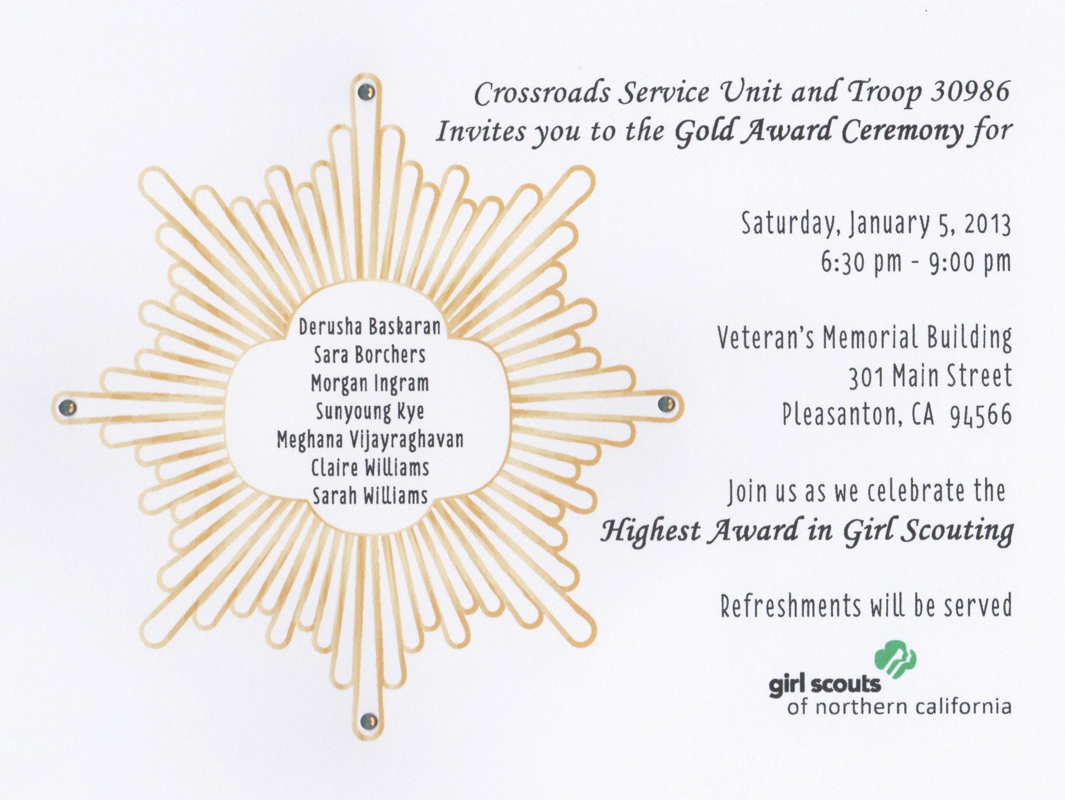 Silver Award Invitations