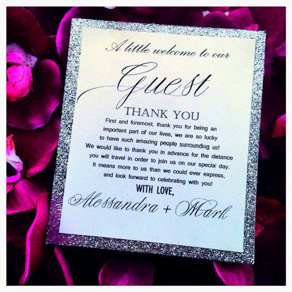 Silver Glitter Wedding Invitation Kits