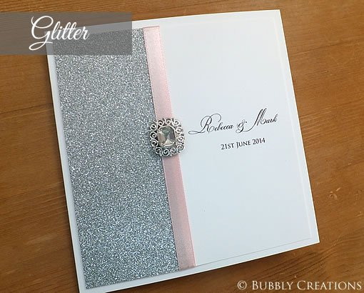 Silver Glitter Wedding Invitations Uk