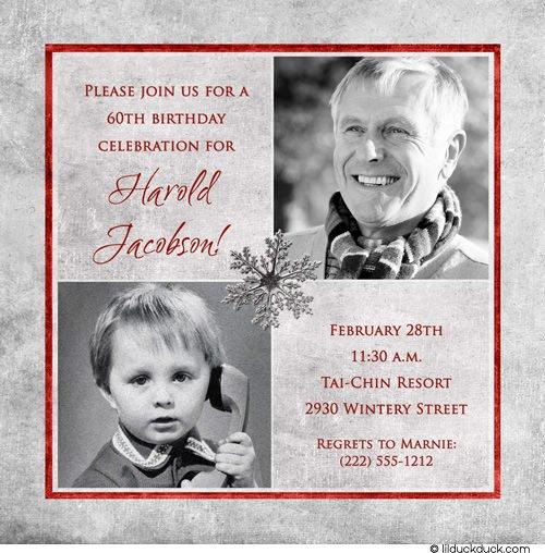 Silver Male Birthday Invitations