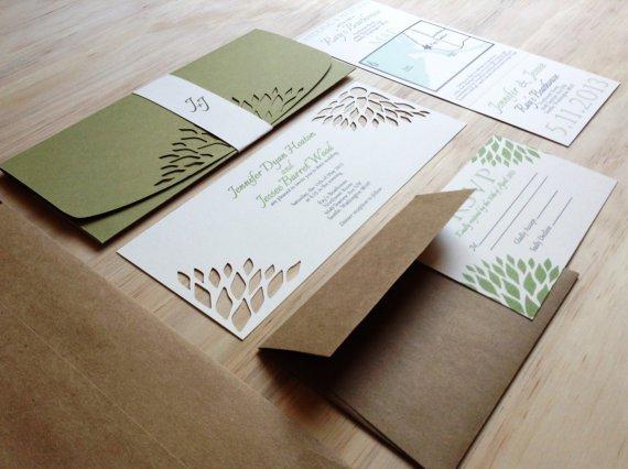 Simple Elegant Handmade Wedding Invitations
