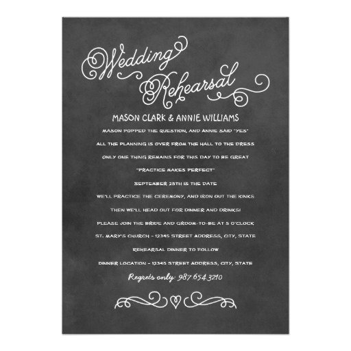 Simple Rehearsal Dinner Invitation Wording