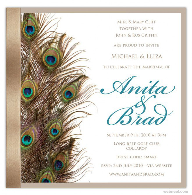 Simple Wedding Invitation Cards For Friends