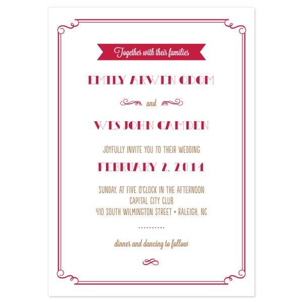 Simple Wedding Invitations Samples