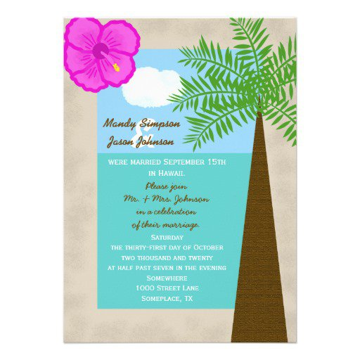 Simple Wedding Reception Invitations