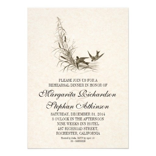 Simple Wedding Rehearsal Dinner Invitations