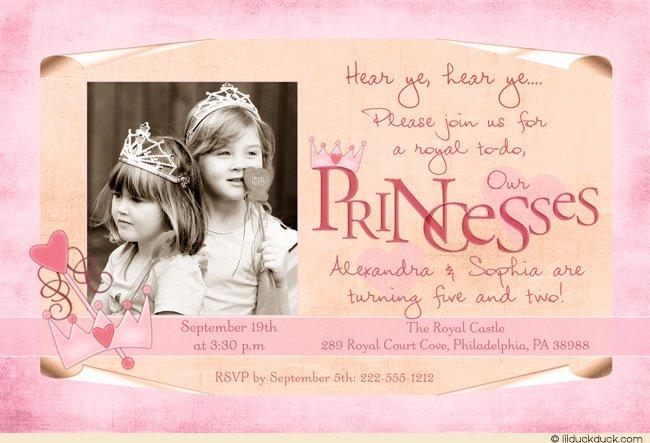 Sisters Birthday Card Invitation