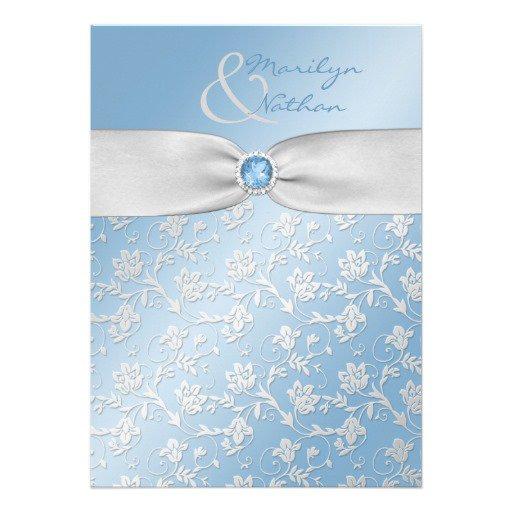 Sky Blue Wedding Invitation Templates