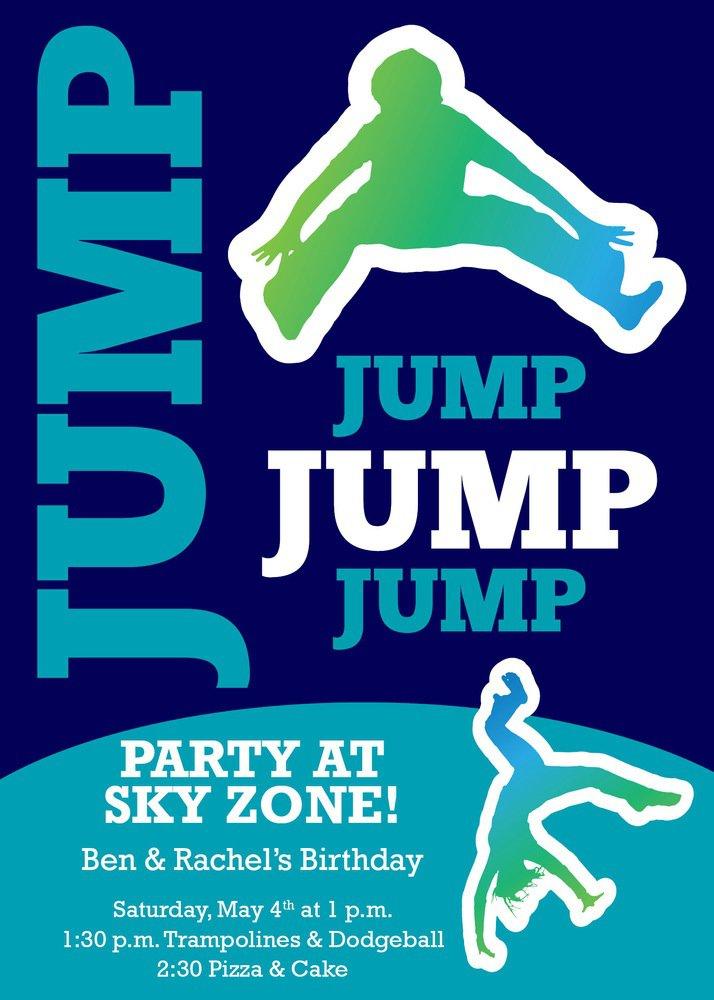 Sky Zone Birthday Invitations