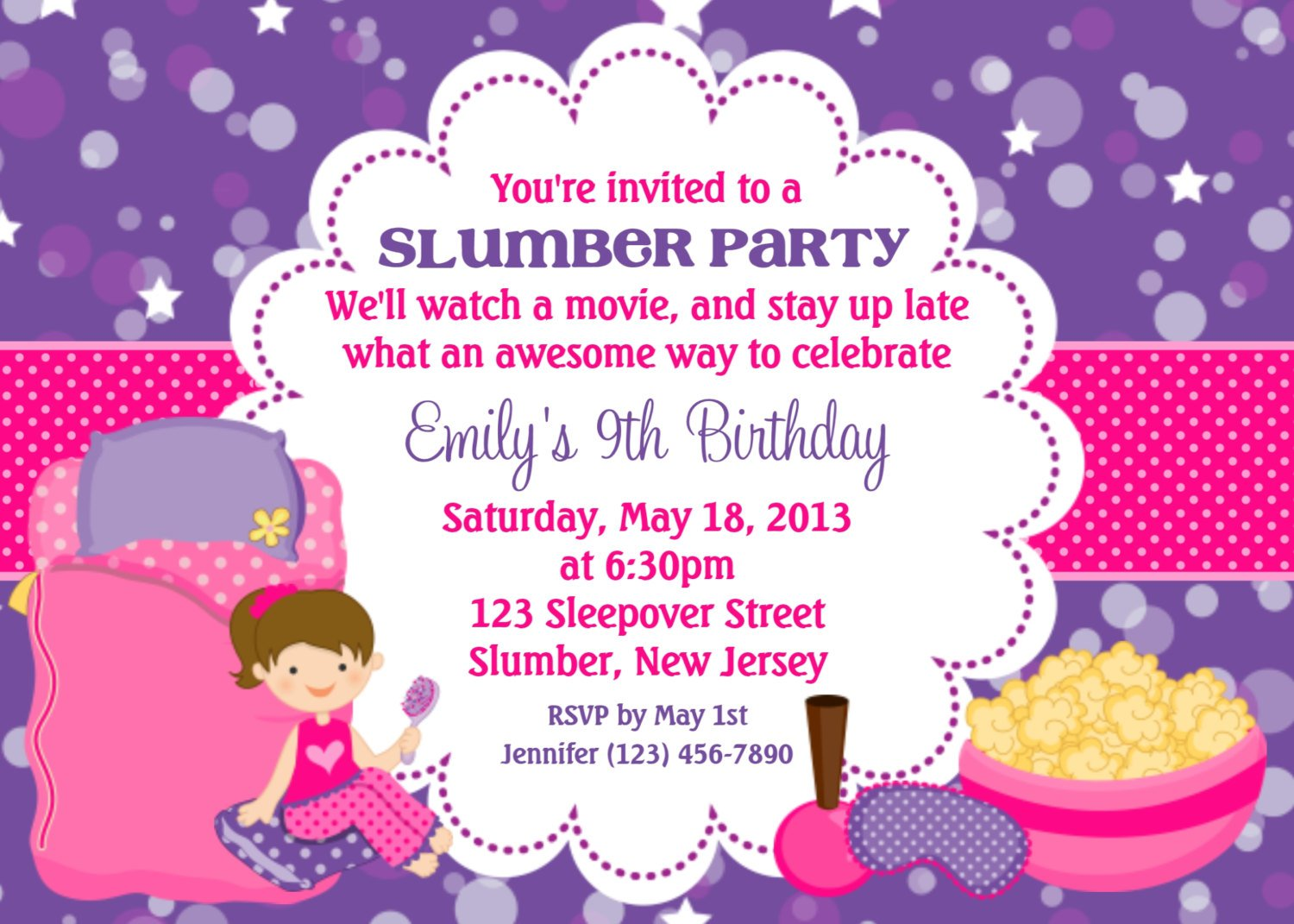 Slumber Party Invitation Wording Samples