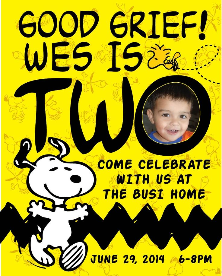 Snoopy Birthday Invitations