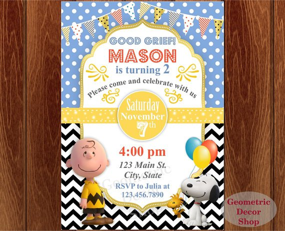 Snoopy Birthday Invitations Printable