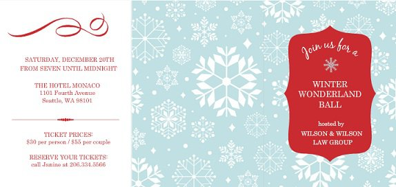 Snow Holiday Invitation Templates