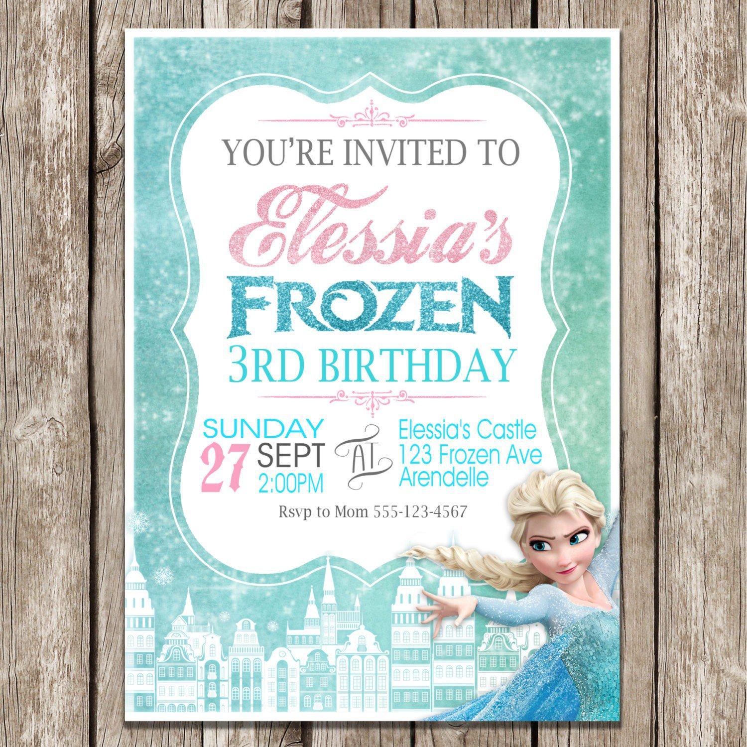 Birthday Invitations – Snowflake Birthday Invitations