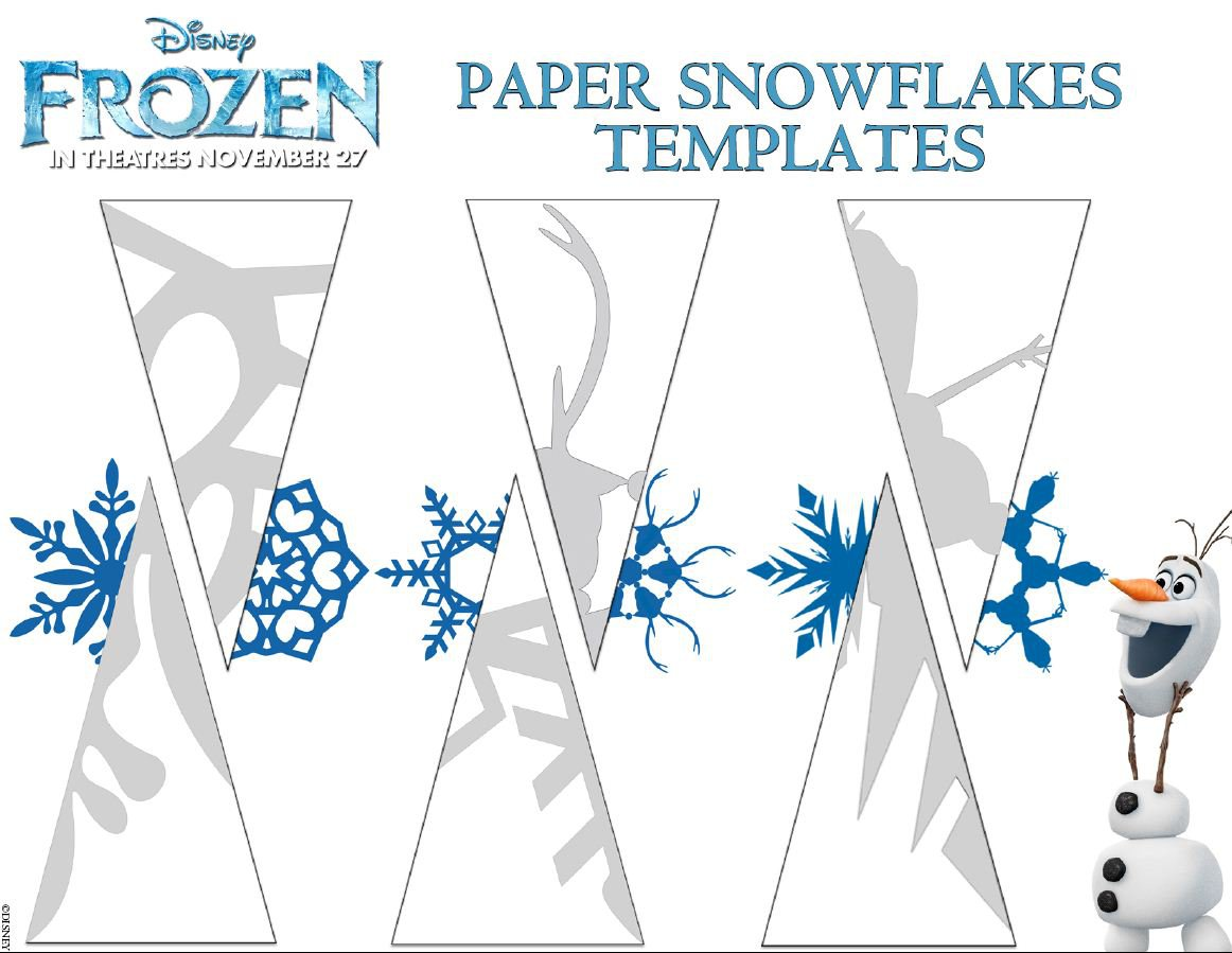 Snowflake Birthday Invitations Templates