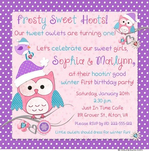 Snowman Birthday Party Invitation Wording