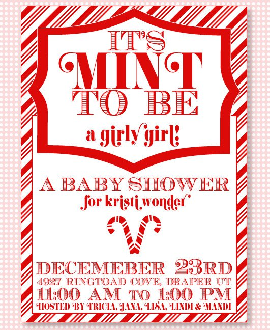 Snowman Party Invitation Baby Shower