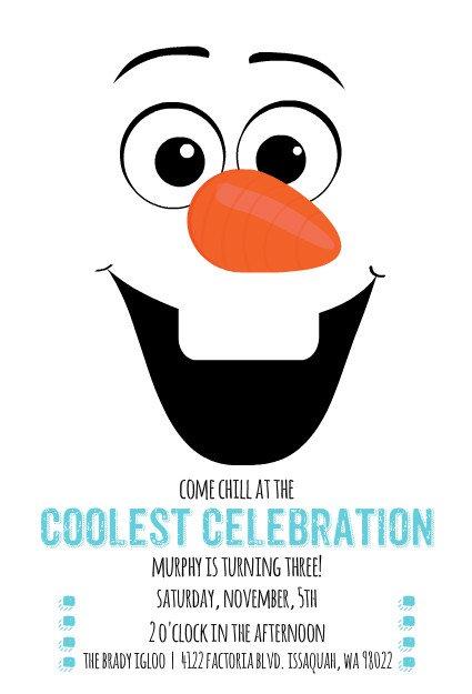 Snowman Party Invitation Blank
