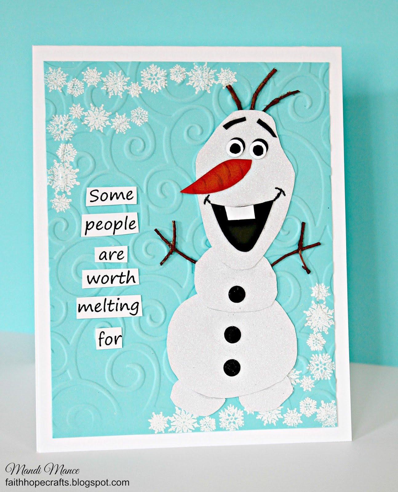 Snowman To Make Birthday Invitations