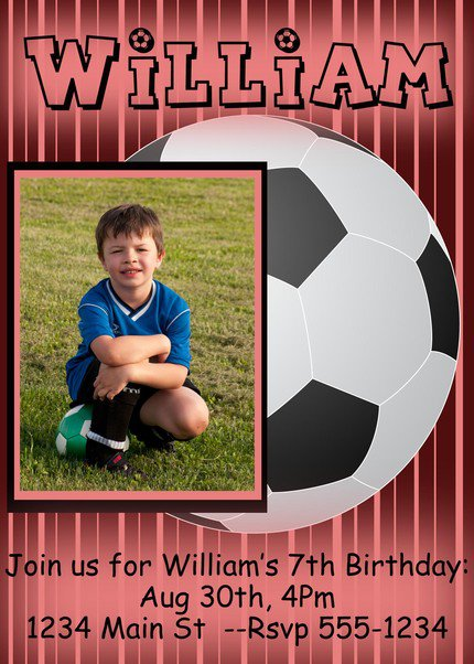 Soccer Boy Girl Invitations Printable