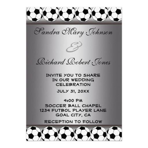 Soccer Themed Wedding Invitations