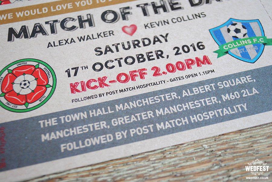 Soccer Ticket Wedding Invitations