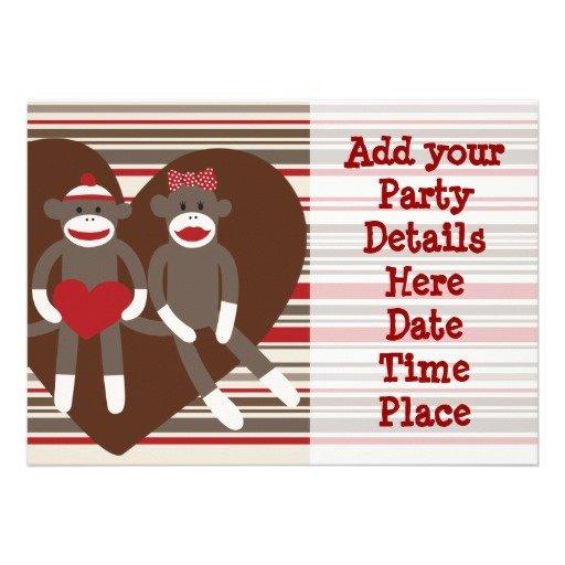 Sock Monkey Invitation Templates