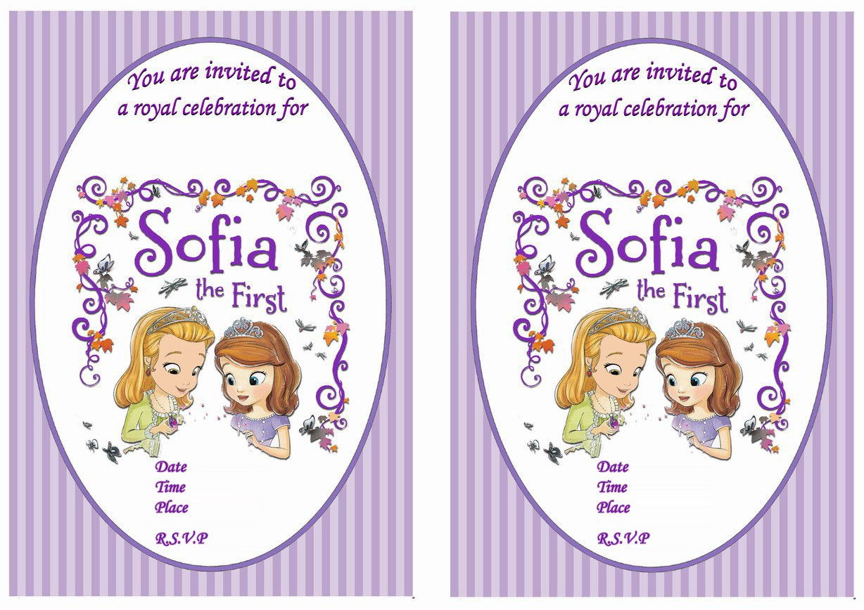 Sofia The First Free Printable Party Invitations