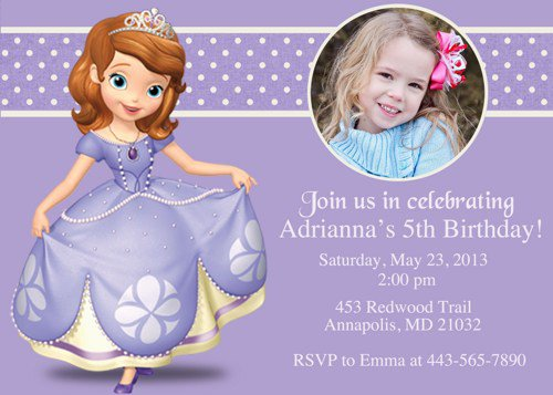 Sofia The First Invitation Templates Free