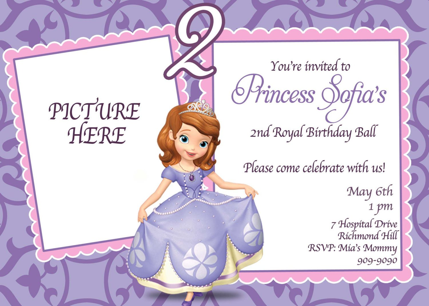 Sofia The First Party Templates