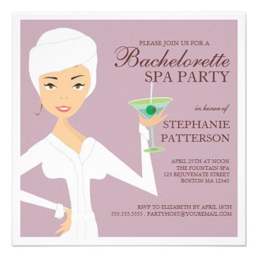 Spa Bachelorette Party Invitation