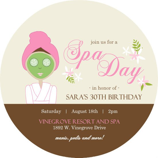 Spa Party Invitation Sayings