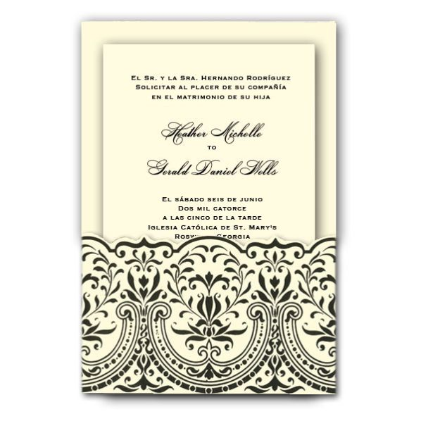spanish invitation wording samples - Spanish Wedding Invitation Wording