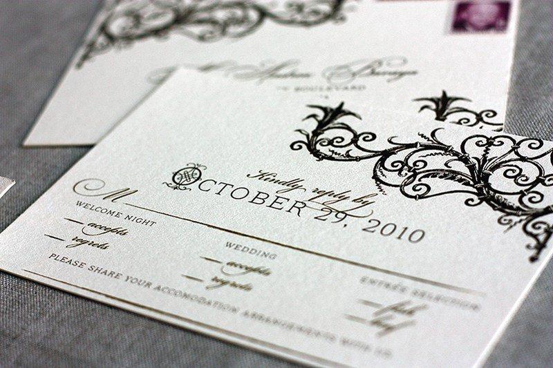 Spanish Style Laser Cut Wedding Invitations